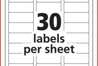 New  Label Template  Job Latter Inside 1 X 2 5 8 Label Template