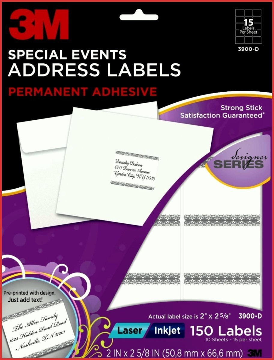 New M Label Templates  Job Latter In 3M Label Templates