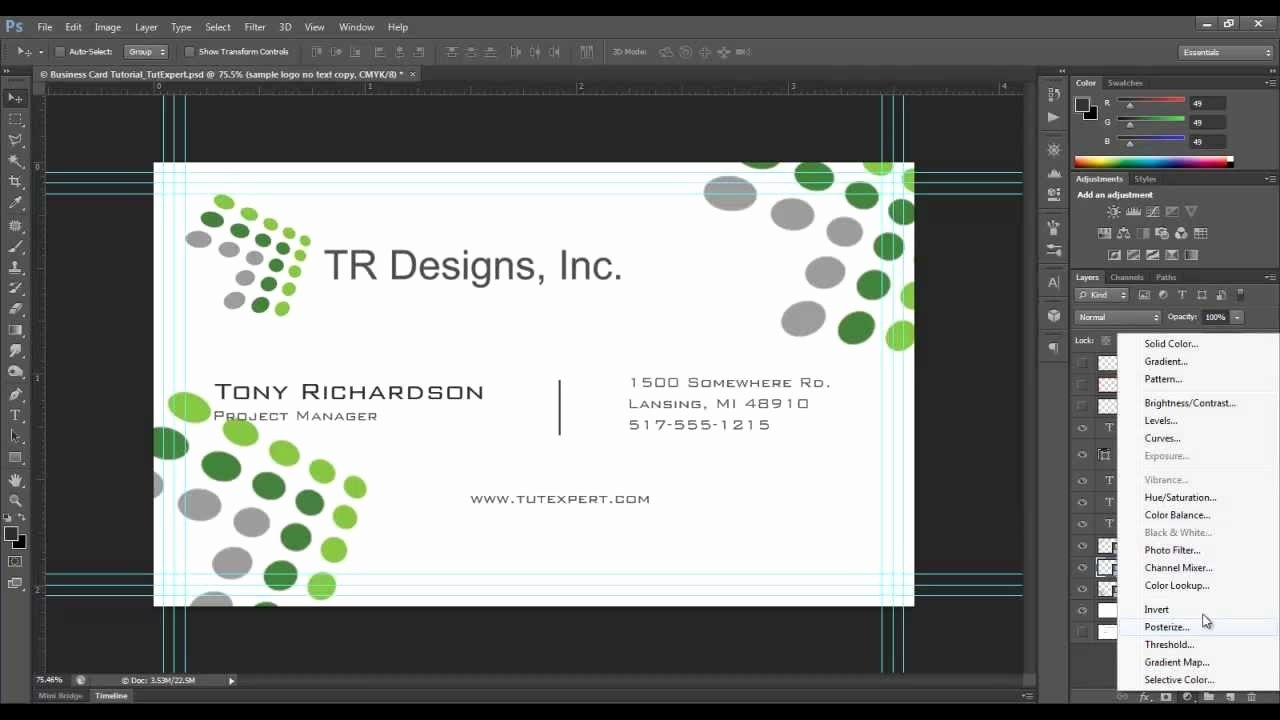 New Photoshop Cs Business Card Template  Hydraexecutives With Create Business Card Template Photoshop