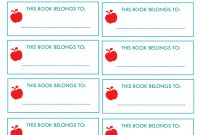 New Project Back To School Notebook And Book Labels throughout Notebook Label Template