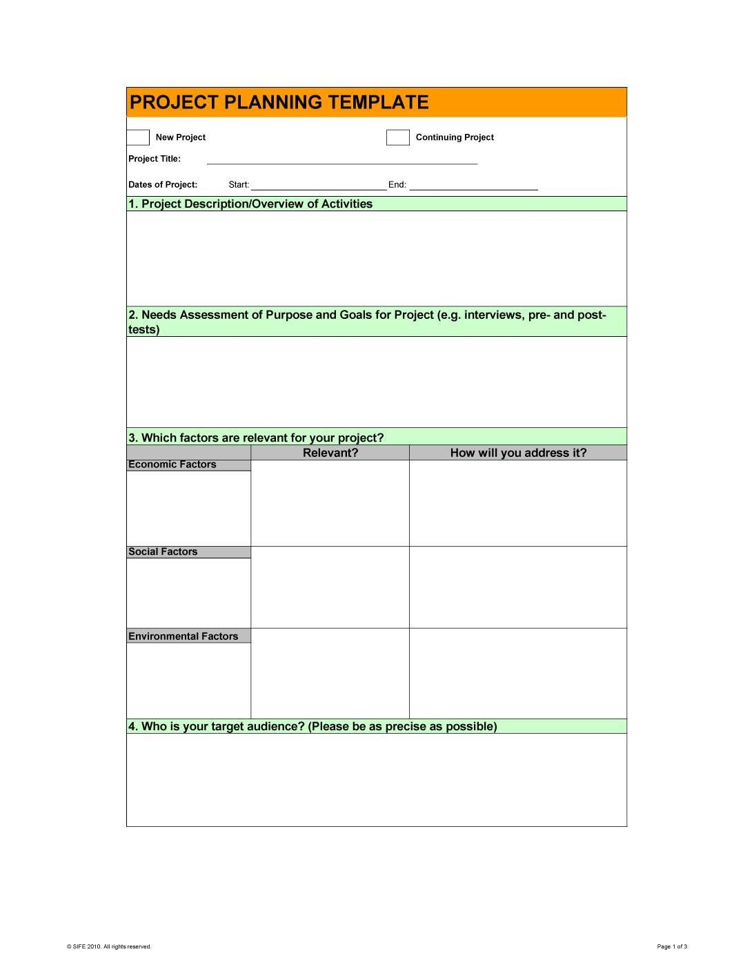 New Project Plan Template Website Business Powerpoint Doc  Smorad For New Business Project Plan Template