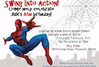 New Spiderman Birthday Invitation Card Template K  Invitations pertaining to Superhero Birthday Card Template