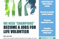 New Volunteer Flyer  Speaknet within Volunteer Brochure Template
