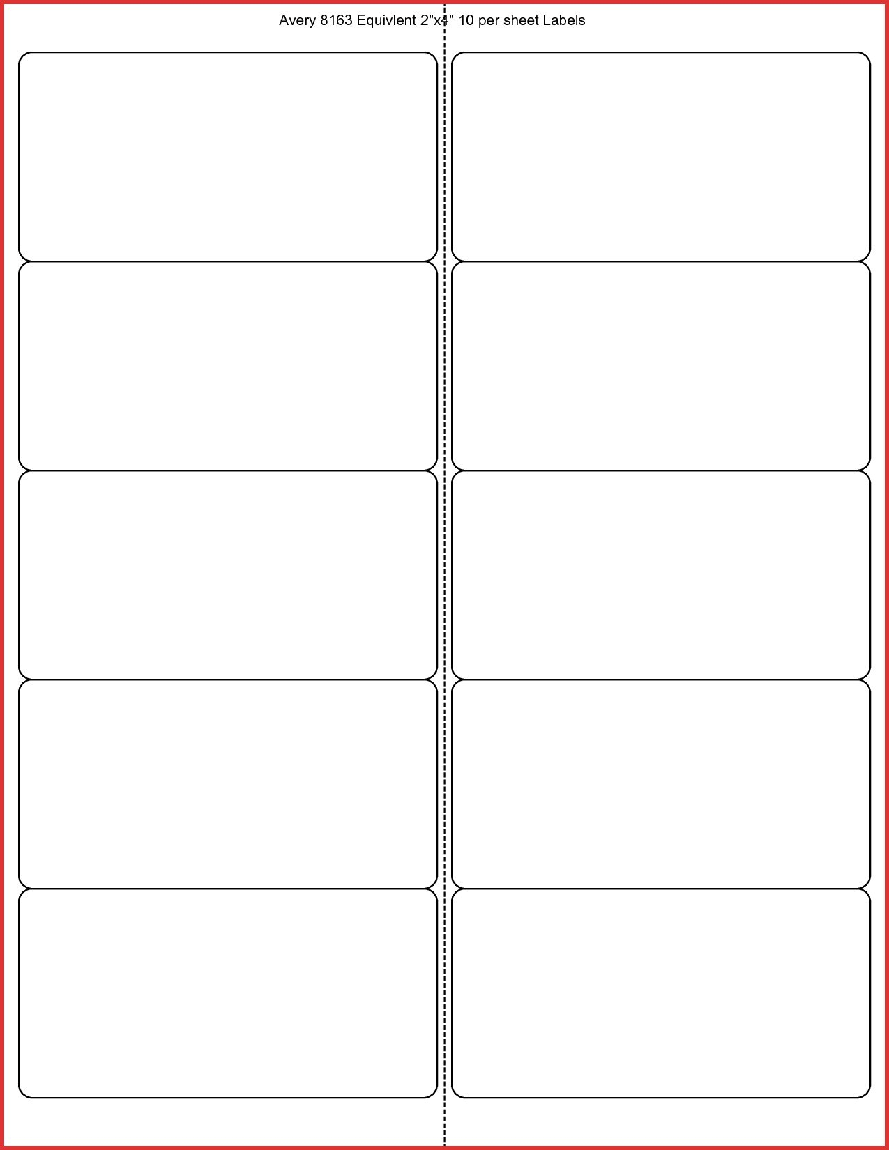 New X Label Template  Job Latter Intended For 2 X 4 Label Template 10 Per Sheet