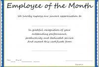 Newfreeemployeemonthawardtemplatecertificatepdfdoc regarding Employee Of The Month Certificate Templates