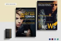 News Magazine Template In Psd Word Publisher Indesign pertaining to Magazine Ad Template Word