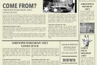 Newspaper Layout Newspaper Format Newspaper Generator Free Newspaper inside Old Blank Newspaper Template