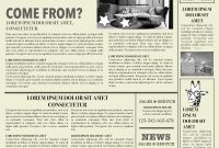 Newspaper Layout Newspaper Format Newspaper Generator Free Newspaper intended for Blank Old Newspaper Template