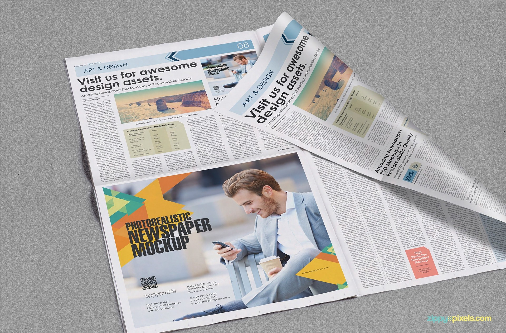 Newspaper Mockups  Free Psd Download  Zippypixels Pertaining To Free Newspaper Advertising Contract Template