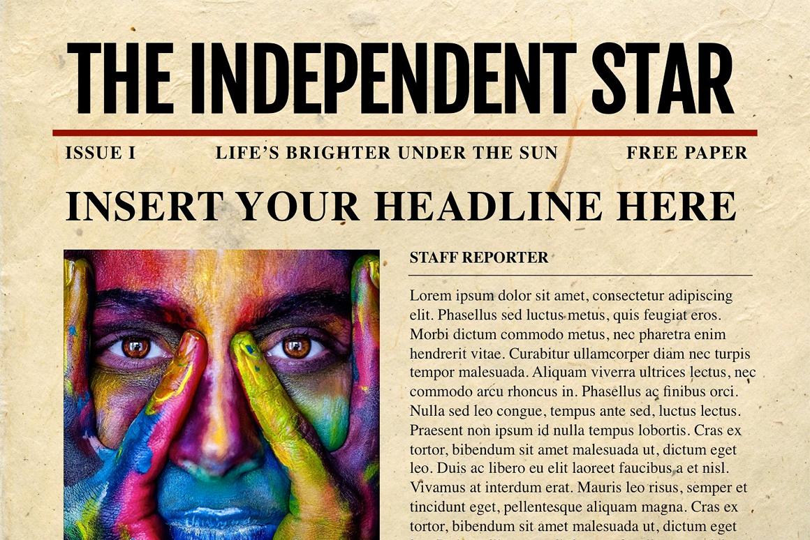 Newspaper Template For Powerpoint  Vsual With Regard To Newspaper Template For Powerpoint