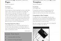 Newspaper Template Word  Teknoswitch regarding Blank Newspaper Template For Word