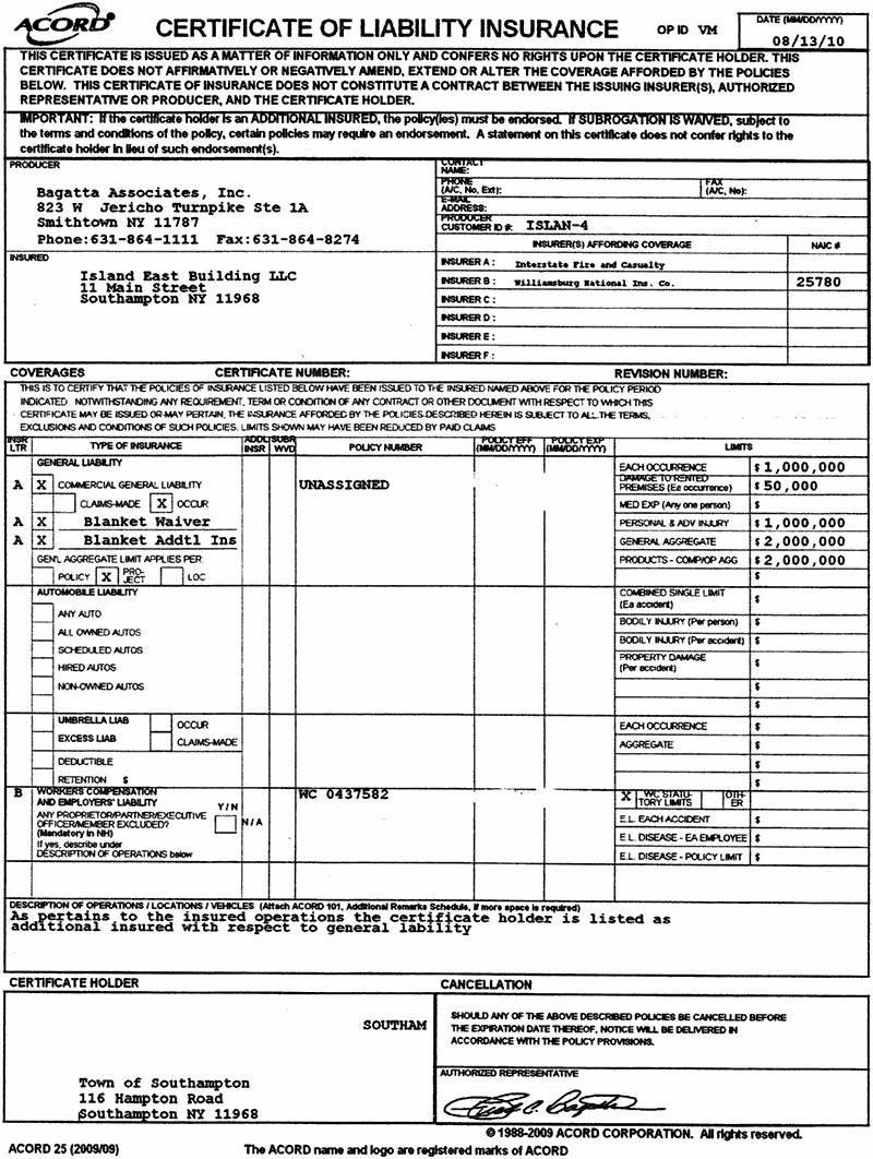 Nice Acord Insurance Certificate Template Photos Acord Certificate For Acord Insurance Certificate Template
