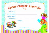 Nice Adoption Certificate Templates Photo Resume Ideas Cat Adoption inside Toy Adoption Certificate Template