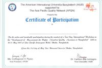 Nice Conference Participation Certificate Template Pictures regarding International Conference Certificate Templates