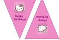 Nice Hello Kitty Birthday Banner Template Free Pictures Happy throughout Hello Kitty Banner Template