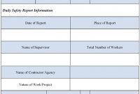 Nice Safety Report Sample Photos  Safety Report Templates  Pdf regarding Hse Report Template