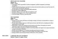 Noc Engineer Resume Samples  Velvet Jobs with regard to Noc Report Template