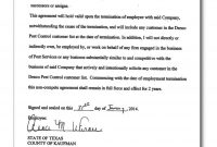 Non Compete Release Letter Template Gallery within Standard Non Compete Agreement Template