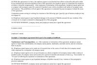 Noncompete Agreement Examples  Pdf Word  Examples with Free Non Compete Agreement Template