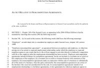 Noncompete Agreement Template  Juliasrestaurantnj within Free Non Compete Agreement Template