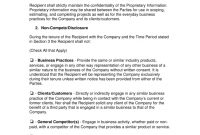 Noncompete Agreement Templates  Eforms – Free Fillable Forms for Subcontractor Non Compete Agreement Template