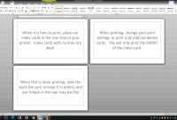 Noteindex Cards  Word Template  Youtube in Cue Card Template