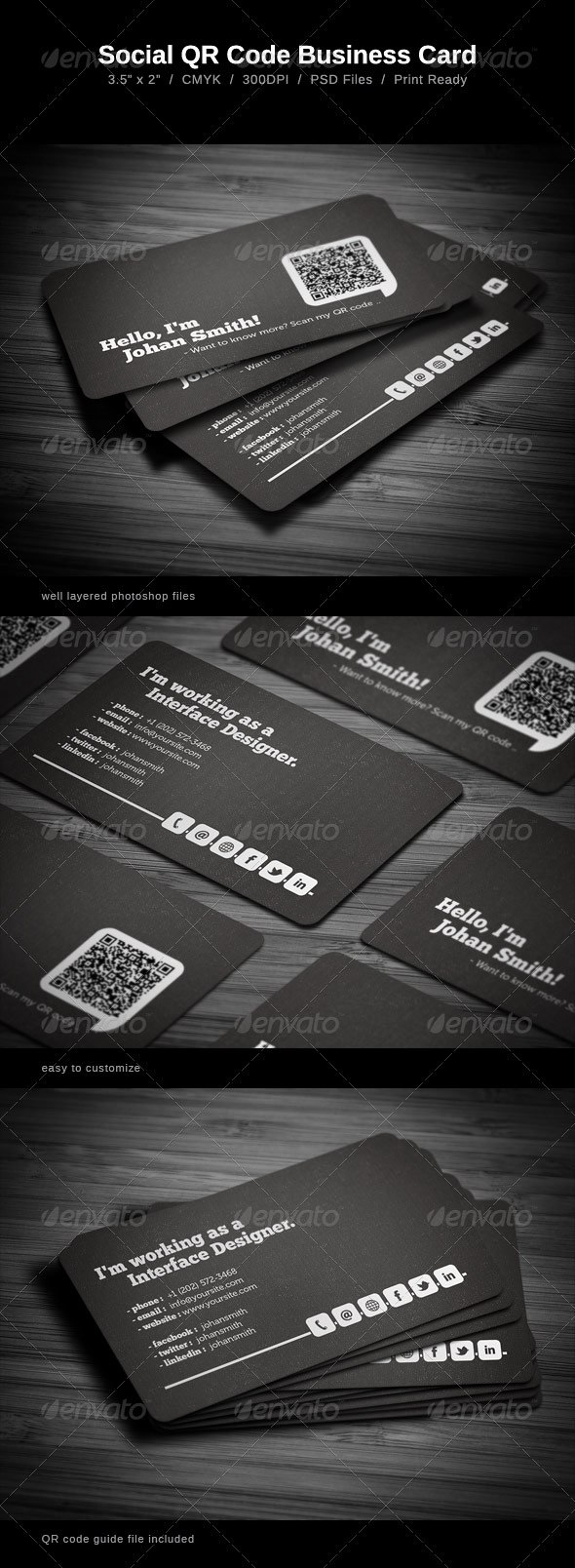Noteworthy Back Of Business Cards Ideas Design  Marketing Throughout Qr Code Business Card Template