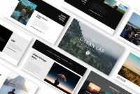 Ocean Lab Photo Album Powerpoint Template – Just Free Slides within Powerpoint Photo Album Template