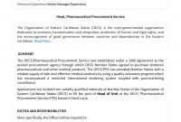 Oecs Head Pharmaceutical Procurement Service  Oecs with Pharmaceutical Supply Agreement Template