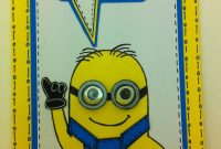 One In A Minion Birthday Card Tutorial Email Me For Free Template intended for Minion Card Template