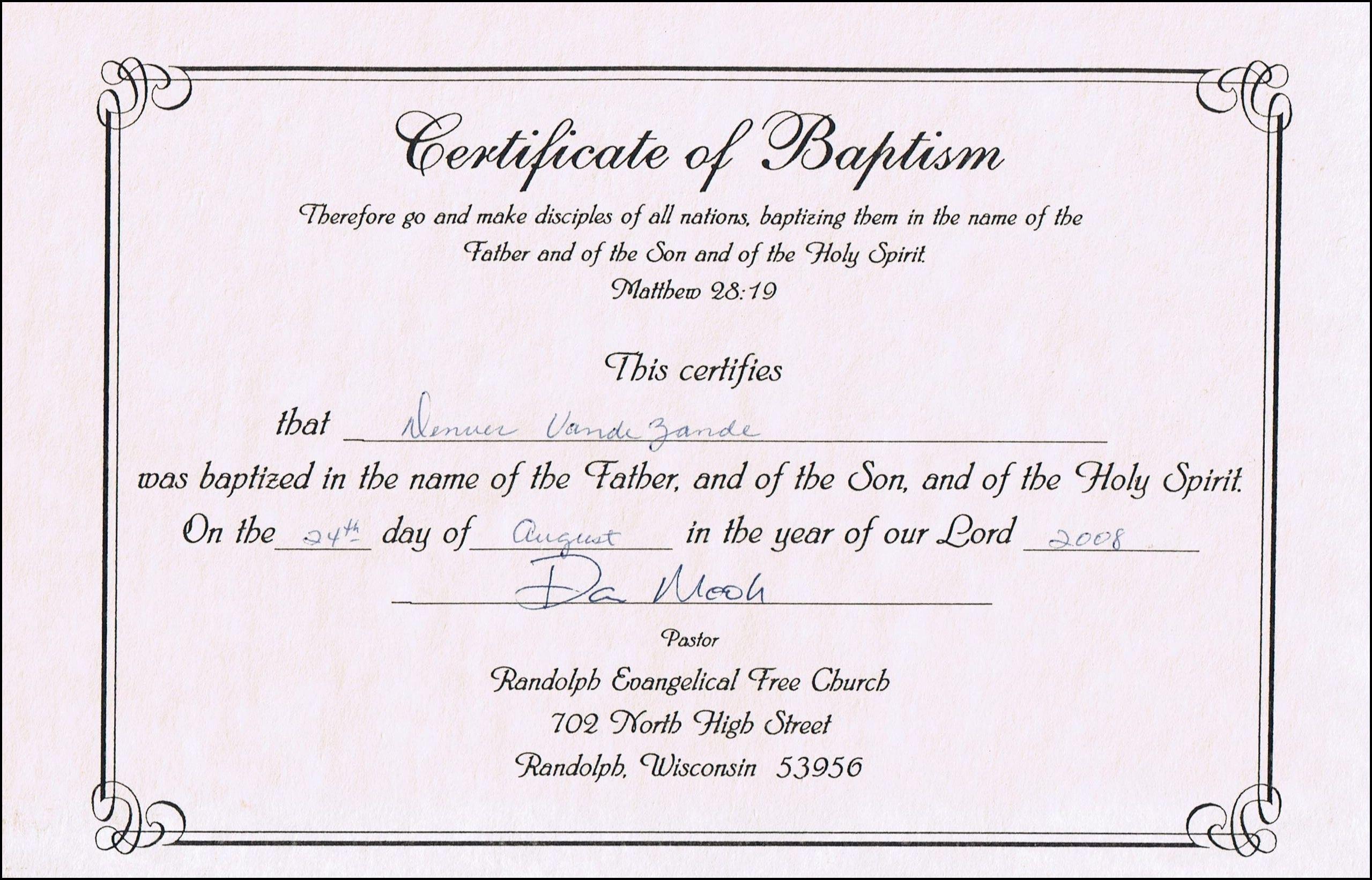 Online Baptism Certificate  Sansurabionetassociats Pertaining To Christian Baptism Certificate Template