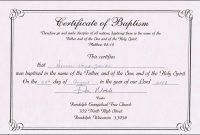 Online Baptism Certificate  Sansurabionetassociats throughout Baby Christening Certificate Template