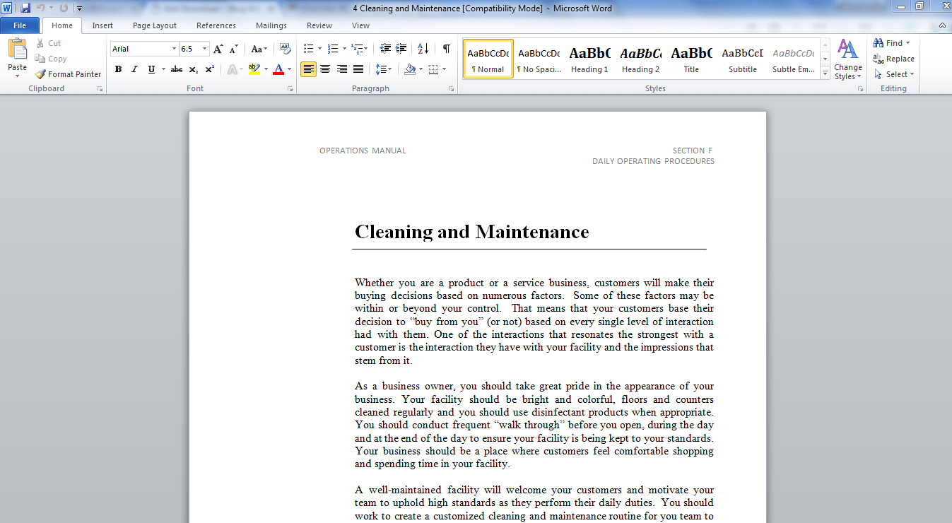 Operations Manual Template  Bug Media Intended For Small Business Operations Manual Template