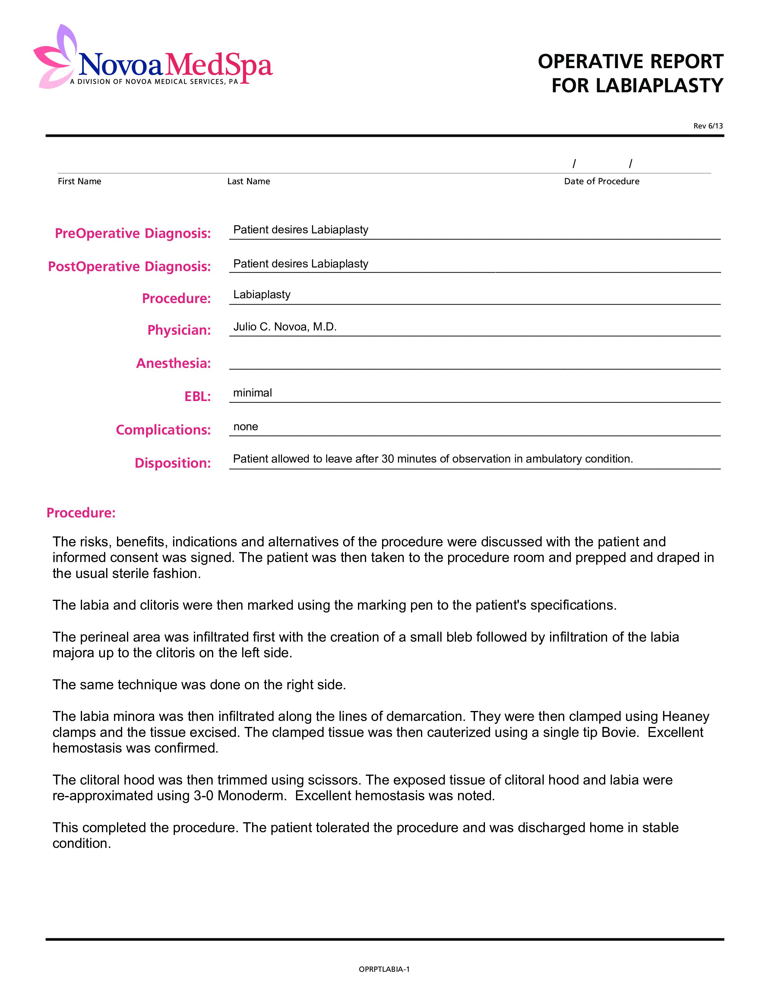 Operative Report  Templates At Allbusinesstemplates In Operative Report Template
