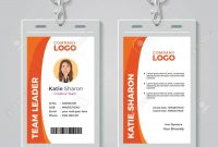 Orange And White Corporate Id Card Template Royalty Free Cliparts throughout Personal Identification Card Template
