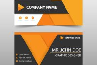 Orange Corporate Business Card Name Card Template Vector Image with Company Business Cards Templates