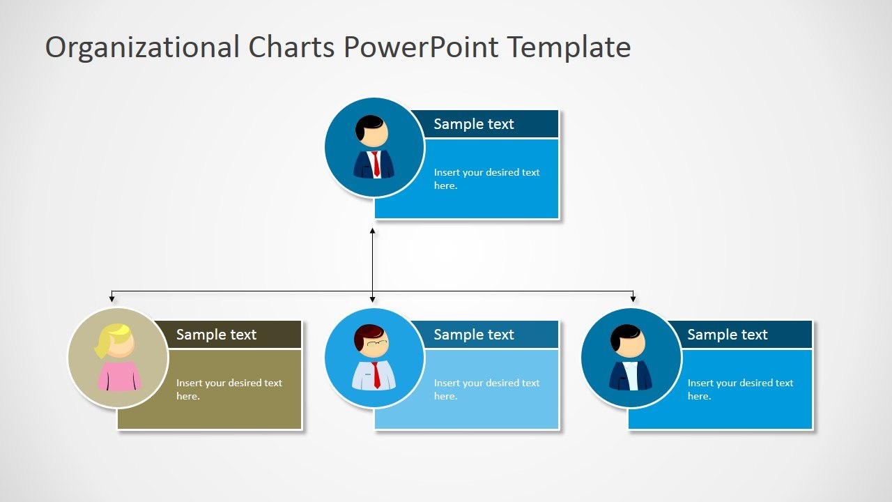 Organizational Charts Powerpoint Template  Slidemodel For Microsoft Powerpoint Org Chart Template