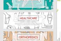 Orthopedics Rheumatology Medical Banner Template Stock Vector intended for Medical Banner Template