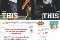 Osaa  Officials inside Football Referee Game Card Template