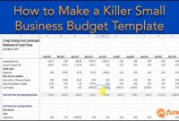 Our Killer Small Business Budget Template Will Save You Time And Money within Business Budgets Templates