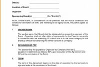 Our Sponsor Agreement Template Lostranquillos Event Sponsorship within Event Sponsorship Agreement Template