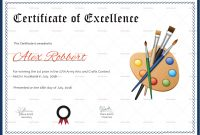 Painting Award Certificate Design Template In Psd Word for Award Certificate Design Template