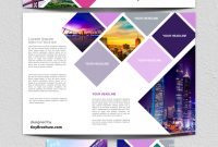 Panel Brochure Template Google Docs Free  Brochure  Stationery intended for Google Docs Travel Brochure Template