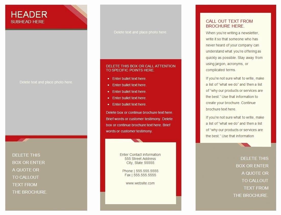 Panel Brochure Template Google Docs Inside Tri Fold Brochure Template Google Docs