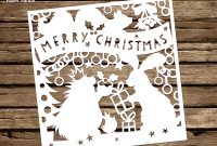 Papercut Diy Design Template  'woodland Friends Christmas Card with Diy Christmas Card Templates