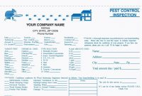 Part Pest Control Inspection Form Carbonless Free Shipping with Pest Control Inspection Report Template