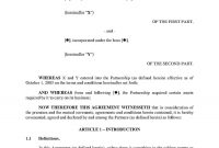 Partnership Agreement Amendment  Templates Hunter within Multiple Partnership Agreement Template