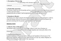 Partnership Dissolution Agreement Form With Sample  Partnership throughout Dissolution Of Partnership Agreement Template