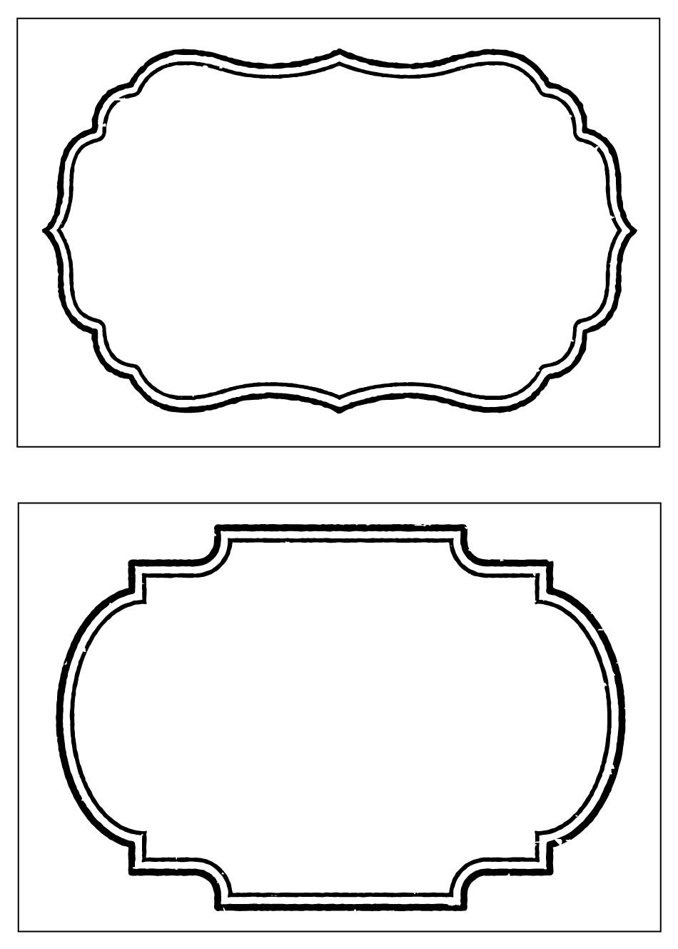Party Basics Food Labels  Recipes  Free Label Templates Tag Intended For Black And White Label Templates