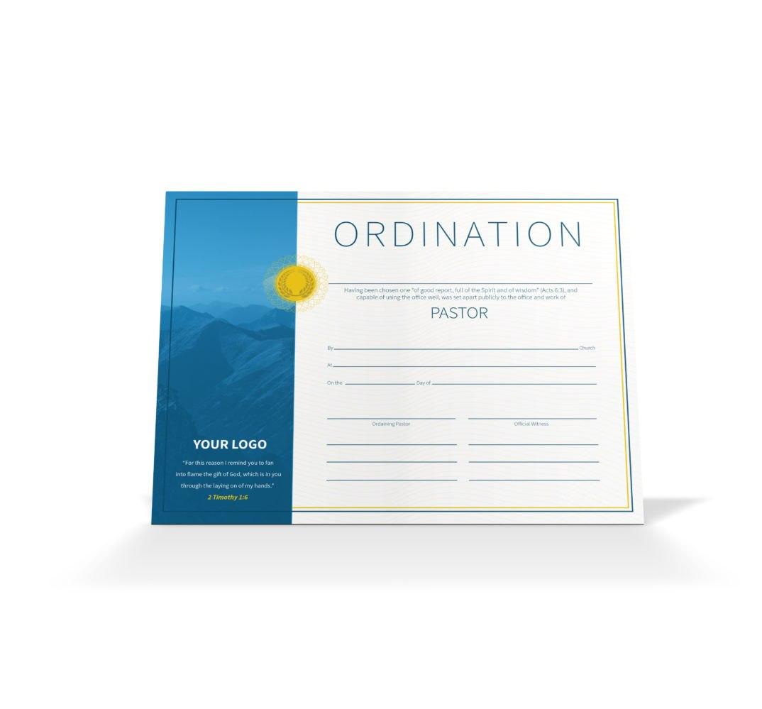 Pastor Ordination Certificate  Vineyard Digital Membership In Ordination Certificate Templates